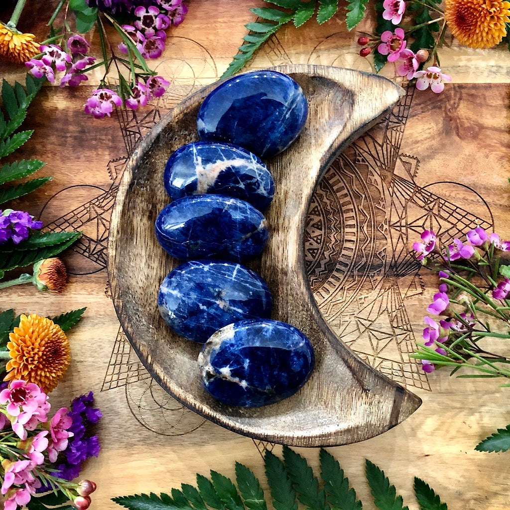 Sodalite Pillow Palm Stone