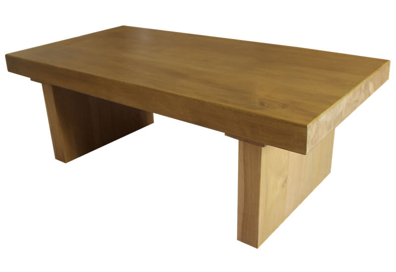 Solid oak beam table