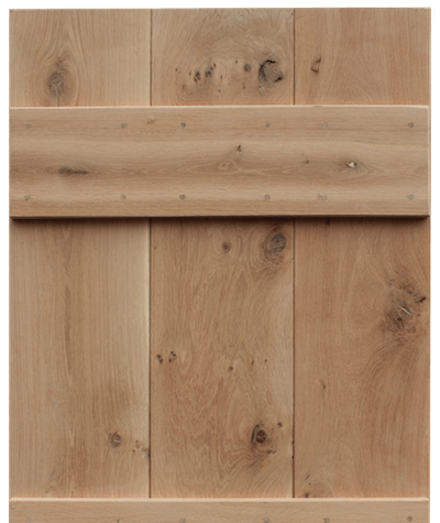 Solid oak cottage door