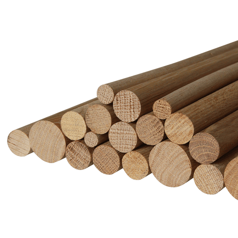 10mm Solid Oak Dowel