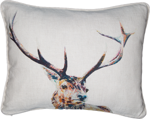 stag cushion, deer, scottish stag, red stag
