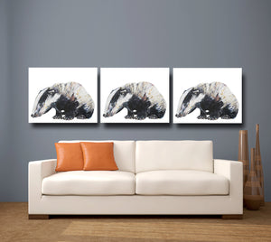 Badger 'Bernie' Giclee Canvas Print