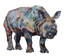 Greater One Horned Rhino 'Bertus' Giclee Print