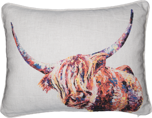 highland cow, highland cow cushion, highland cow gift, cow, cow cushion, cow gift idea, highland coo, highland coo cushion, highland coo gift idea