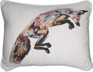 fox, fox cushion, fox gift