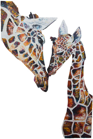 Giraffe 'Daisy and Holly' Giclee Print