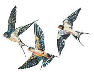 swallows, swallows print, swallows gift idea, flying swallows, flying swallows print, flying swallows gift idea