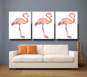 Flamingo 'Fabulous' Giclee Canvas Print