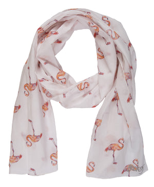 Fabulous Flamingo Cotton Lawn Scarf