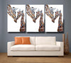 Giraffe 'Daisy and Holly' Giclee Canvas Print