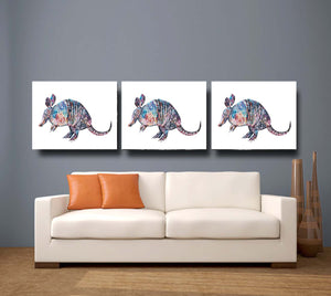 Armadillo 'Hank' Giclee Canvas Print