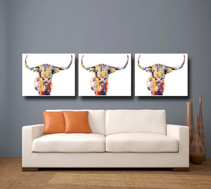 Highland Cow Giclee Canvas Print