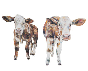 Inquisitive Calf 'Iris & Izzy' Giclee Print