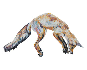 Leaping Foxy 'Mr Aikwood' Giclee Print