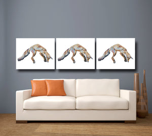 Leaping Foxy 'Mr Aikwood' Giclee Canvas Print
