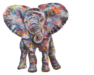 Baby Elephant 'Nelly' Giclee Print