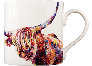 Highland Cow 'Olivia' Fine Bone China Mug