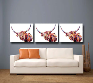 Highland Cow 'Olivia' Giclee Canvas Print