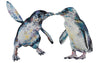 Baby Blue Penguins 'Becksy & David' Giclee Print