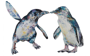 penguin, penguin print, penguin gift idea, little blue penguin, little blue penguin print, little blue penguin gift idea, nursery gift, nursery decoration