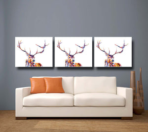 Red Stag Giclee Canvas Print