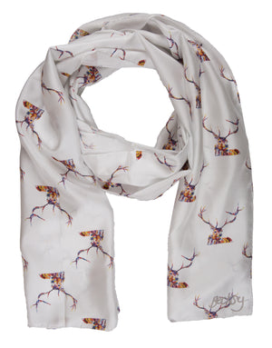 Red Stag Silk Twill Scarf