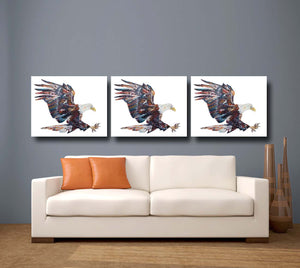 Eagle 'Eric' Giclee Canvas Print