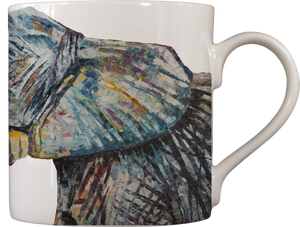 Bahati & Bashasha Baby Elephants Fine Bone China Mug