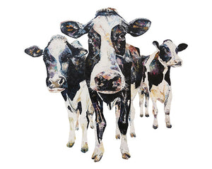 Holstein Cows 'All The Single Ladies' Giclee Print