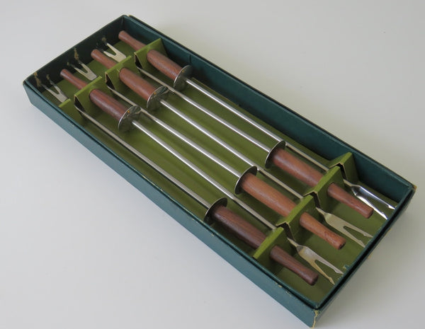 box set of 6 fondue forks