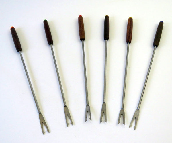 set of 5 fondue forks