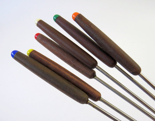 wood handle fondue forks
