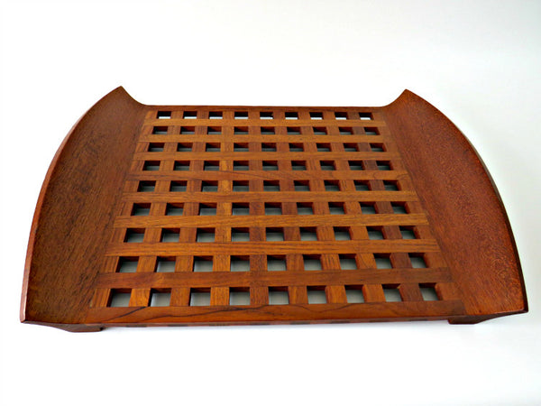 dansk teak lattice tray