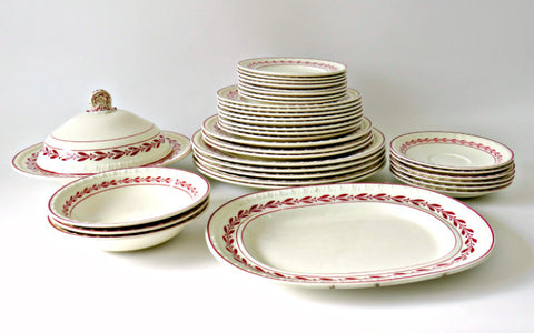 antique copeland spode laurel red