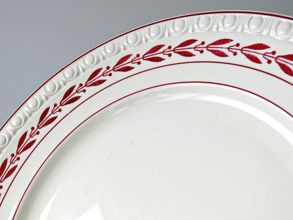 Laurel Red Spode Fiance Chiina