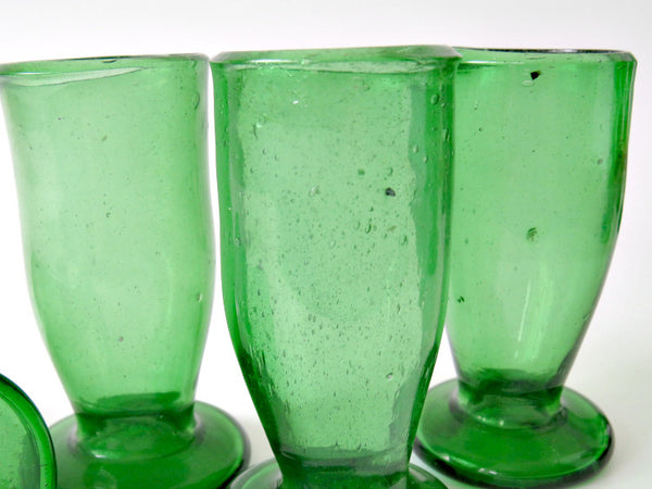 old hand made iron green glasses