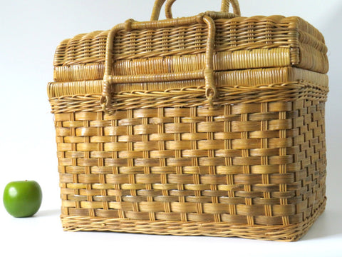 Large basket with lid