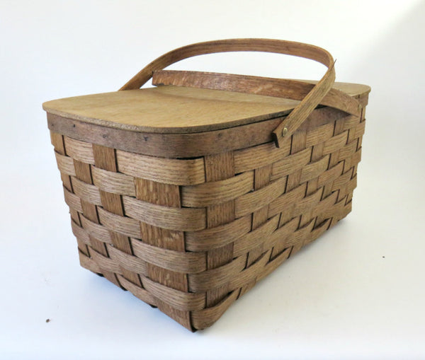 bentwood double handle basket