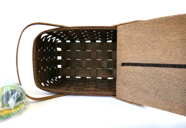 wood lid basket