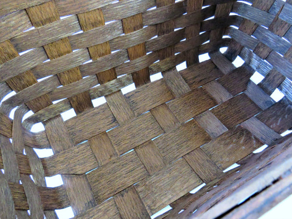 split oak wood basket
