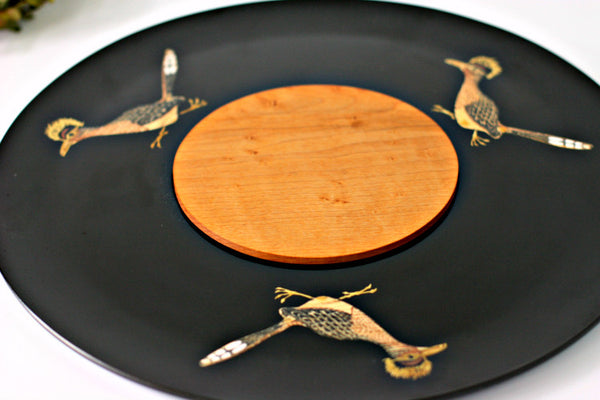 three roadrunner couroc platter