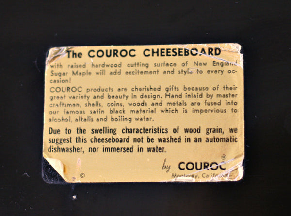 The Couroc cheeseboard label tag