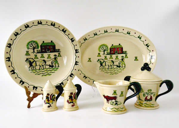 Metlox Poppytrail Homestead Provincial Serving Set