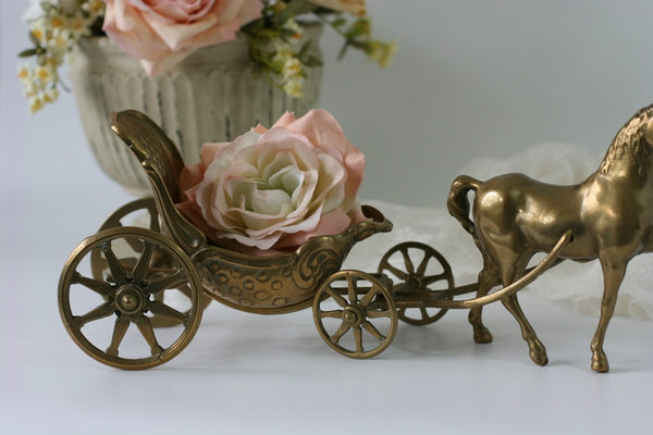 brass artmark horse and carriage