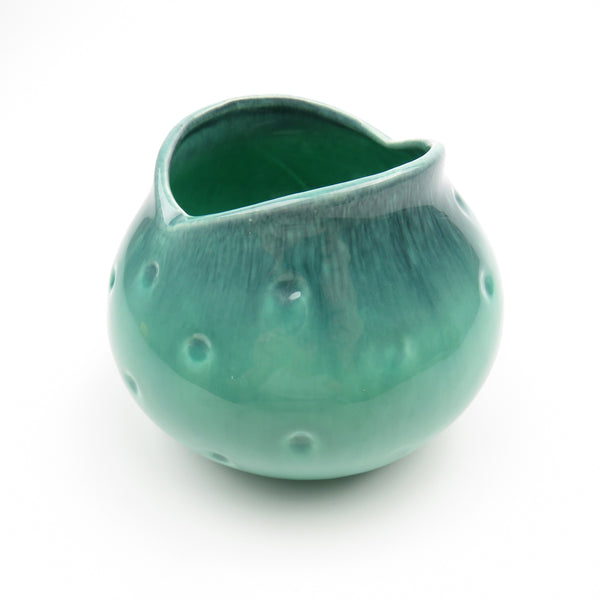 Mid Century Modern 1960's Pottery Small Royal Haeger Drip Glaze Dimple Fish Mouth Succulent Pot R1575S