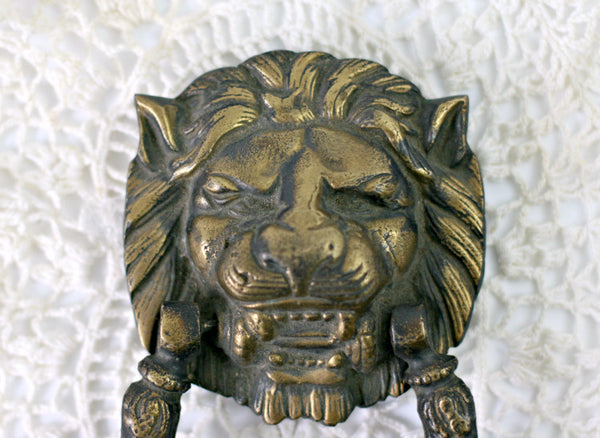 Georgian lion head door knocker