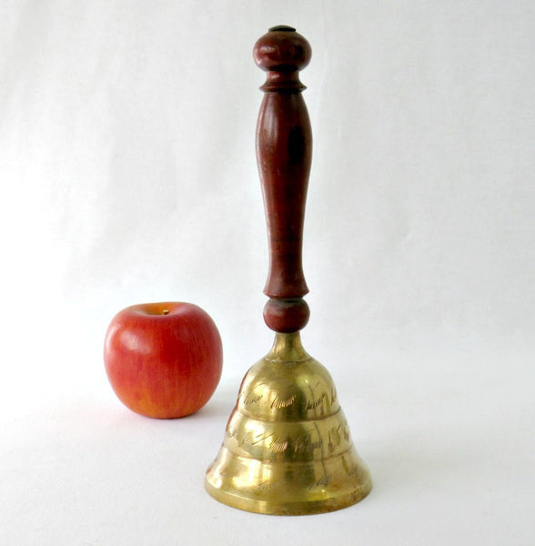 Wood handled teacher bell