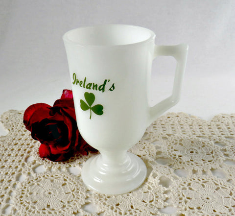 ireland milk glass mug