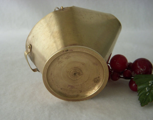 Miniature Brass Coal Scuttle Bucket Ashtray, Portable Ashtray for One