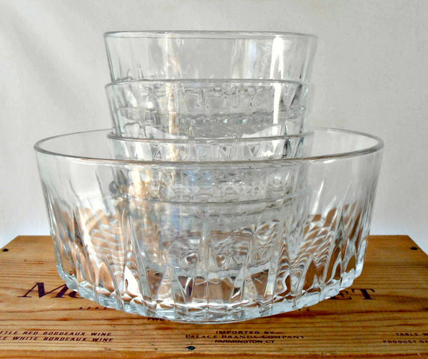 Arcoroc Crystal 5 Pc Bowl Set